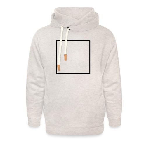 Square t shirt black - Unisex sjaalkraag hoodie