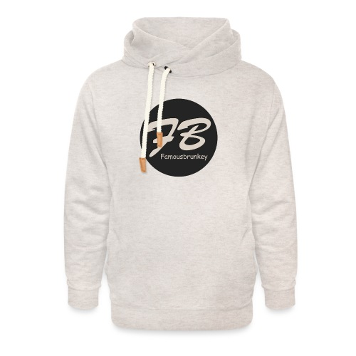 TSHIRT-FAMOUSBRUNKEY - Unisex sjaalkraag hoodie
