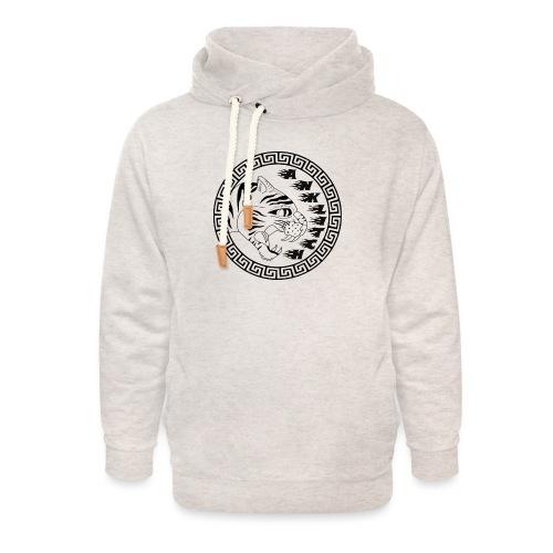 Anklitch trui grijs - Unisex sjaalkraag hoodie