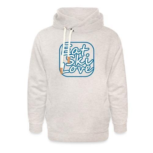 eat ski love - Unisex sjaalkraag hoodie