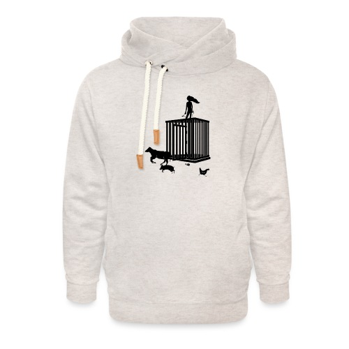 Strong Woman - Unisex hoodie med sjalskrave