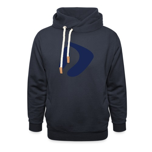 Logo D Blue DomesSport - Unisex Schalkragen Hoodie