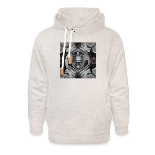 metalen motor onderdelen - Unisex sjaalkraag hoodie