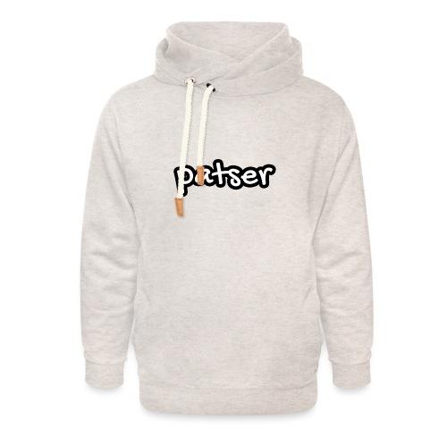Patser - Basic White - Unisex sjaalkraag hoodie