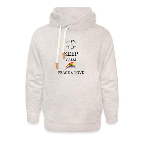 keep calm and Peace & Lov - Felpa con colletto alto unisex