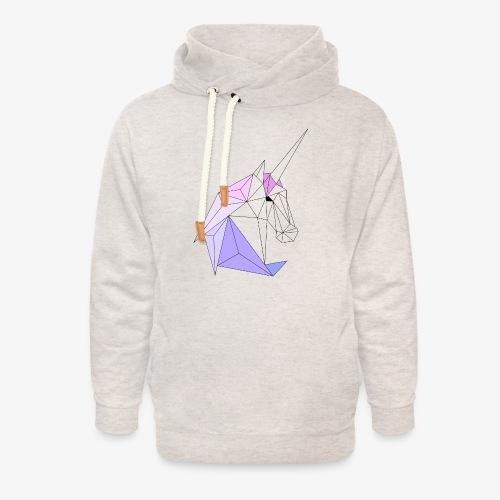 Einhorn geometrie unicorn - Unisex Schalkragen Hoodie