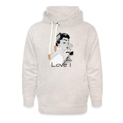 Love I - Sweat à capuche cache-cou unisexe