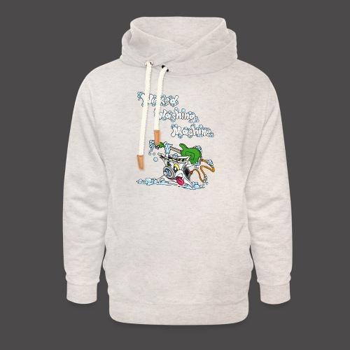 Wicked Washing Machine Cartoon and Logo - Unisex sjaalkraag hoodie