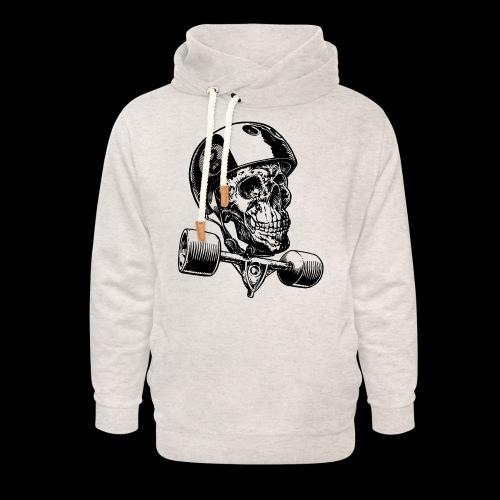 Skull Longboard Rider - positive print - Sweat à capuche cache-cou unisexe