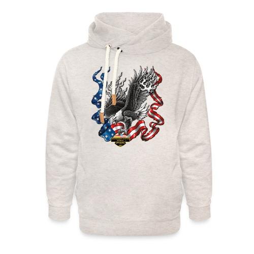 american eagle schrift gross - Unisex Schalkragen Hoodie