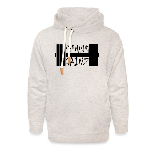 Weight + Text - Unisex Shawl Collar Hoodie