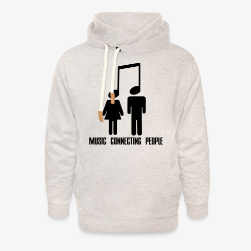 Music Connecting People - Unisex Schalkragen Hoodie
