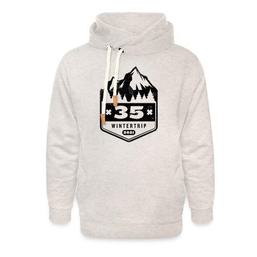 35 ✕ WINTERTRIP ✕ 2021 • BLACK - Unisex sjaalkraag hoodie