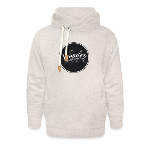 Wonder T-shirt - oldschool logo - Unisex hoodie med sjalskrave