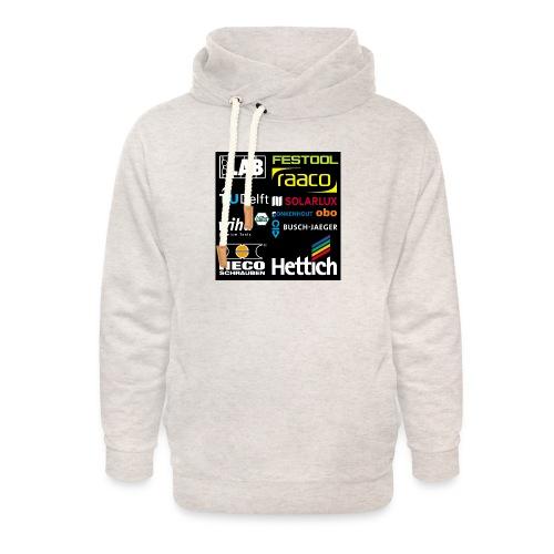 tshirt 2 rueck kopie - Unisex Shawl Collar Hoodie
