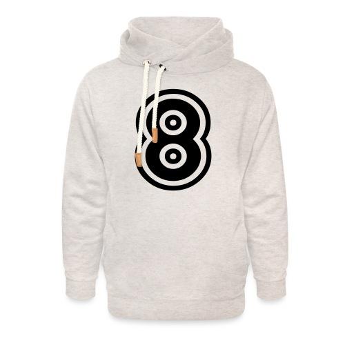 cool number 8 - Unisex sjaalkraag hoodie