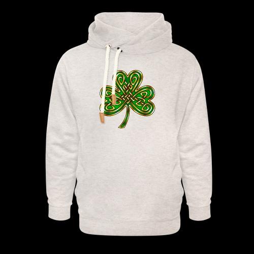 Celtic Knotwork Shamrock - Unisex Shawl Collar Hoodie