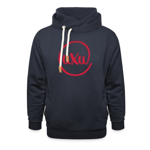 UXU logo round - Unisex Shawl Collar Hoodie