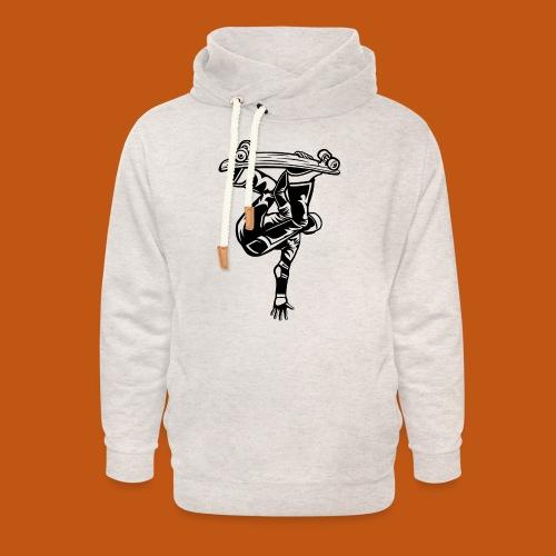 Skater / Skateboarder 03_schwarz - Unisex Schalkragen Hoodie