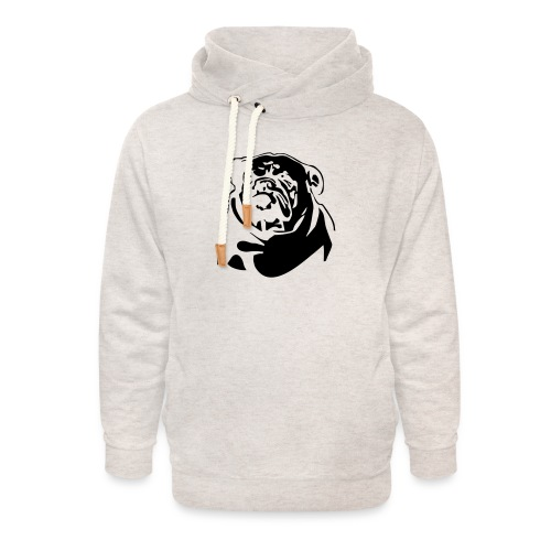 English Bulldog - negative - Unisex huivikaulus huppari