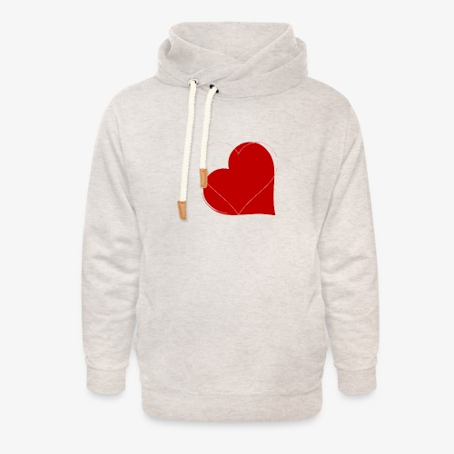 Love - Felpa con colletto alto unisex