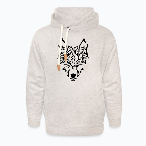 Tribal Wolf - Sweat à capuche cache-cou unisexe