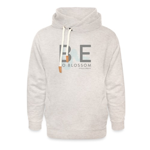 Be to blossom with swoosh (gray) -Power to Blossom - Unisex Shawl Collar Hoodie