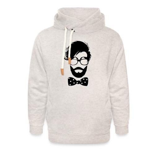 hipster_med_briller_og_butterfly - Unisex hoodie med sjalskrave