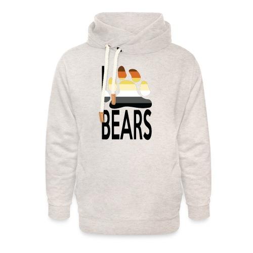 I love bears - Sweat à capuche cache-cou unisexe