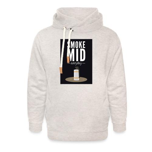 smoke mid - Unisex sjaalkraag hoodie