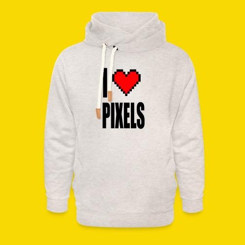 I Love Pixels - Bluza z szalowym kołnierzem unisex