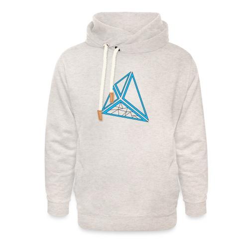 triangoli schematici - Felpa con colletto alto unisex