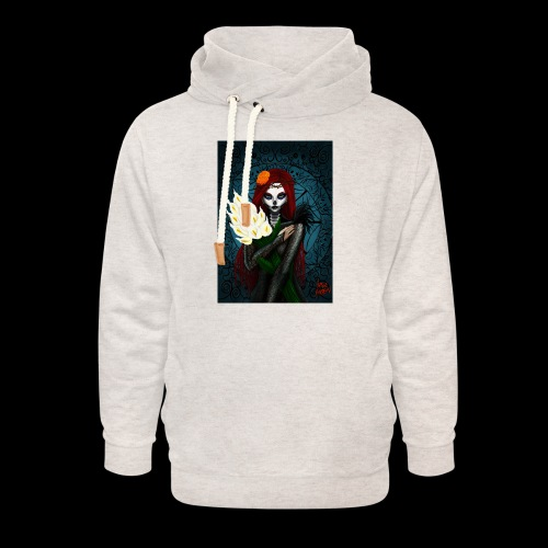 Death and lillies - Unisex Shawl Collar Hoodie