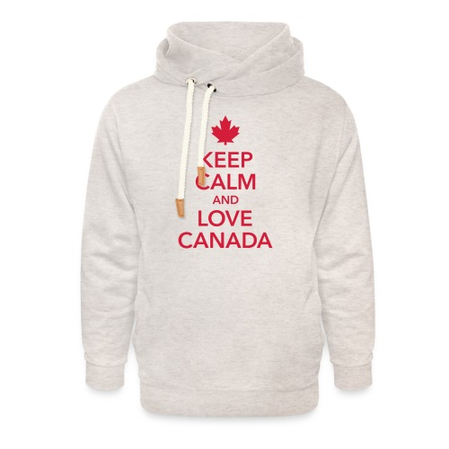 keep calm and love Canada Maple Leaf Kanada - Unisex Shawl Collar Hoodie