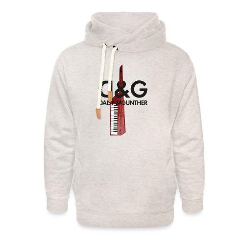 Met keytar-logo - Unisex sjaalkraag hoodie