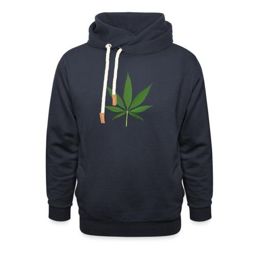 2000px-Cannabis_leaf_2 - Unisex hoodie med sjalskrave