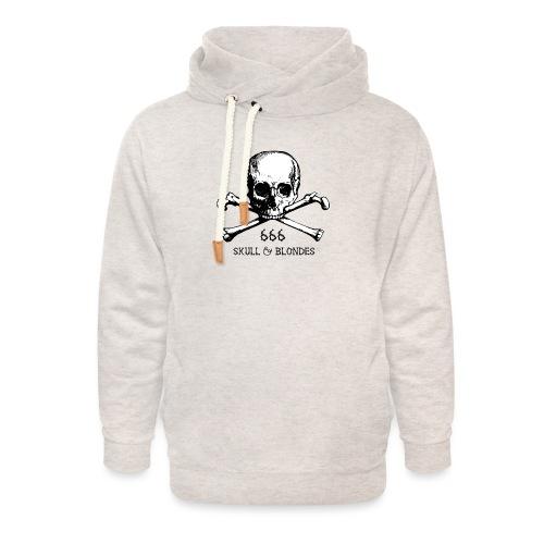 skull & blondes (black) - Unisex Schalkragen Hoodie