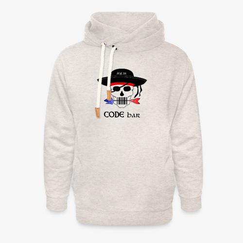 Code Bar couleur - Sweat à capuche cache-cou unisexe