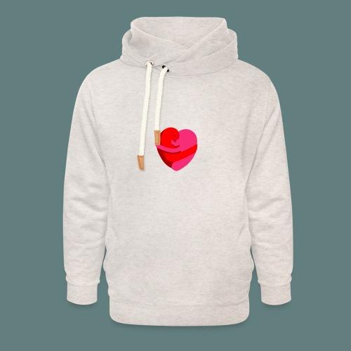 hearts hug - Felpa con colletto alto unisex