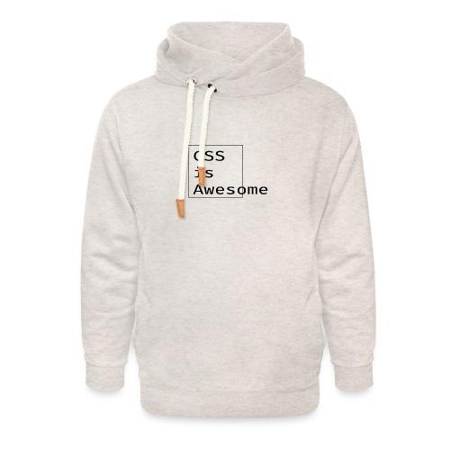 cssawesome - black - Unisex sjaalkraag hoodie