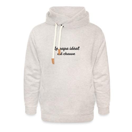 t-shirt fete des pères le papa idéal est chauve - Sweat à capuche cache-cou unisexe