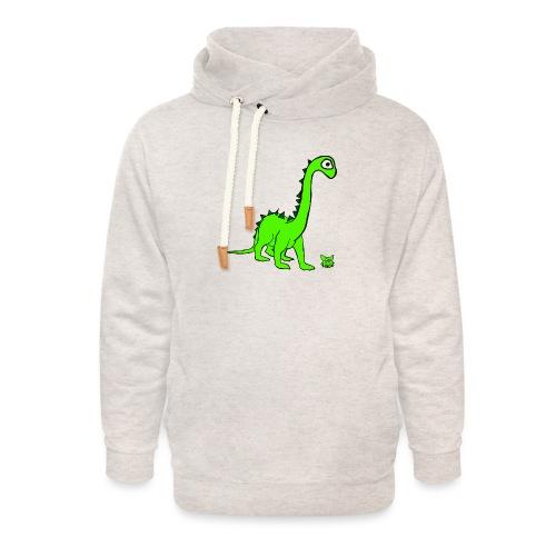 dinosauro - Felpa con colletto alto unisex