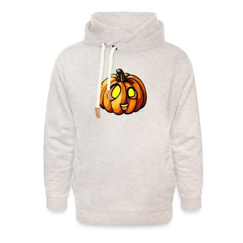 Pumpkin Halloween watercolor scribblesirii - Unisex Schalkragen Hoodie