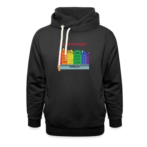 PRIDENHAGEN NYHAVN T-SHIRT - Unisex hoodie med sjalskrave