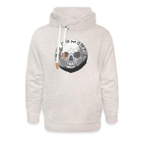 Rigormortiz Black and White Design - Unisex Shawl Collar Hoodie
