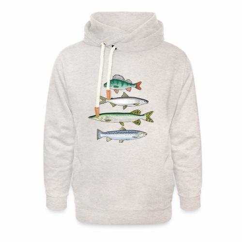 FOUR FISH - Ahven, siika, hauki ja taimen tuotteet - Unisex huivikaulus huppari