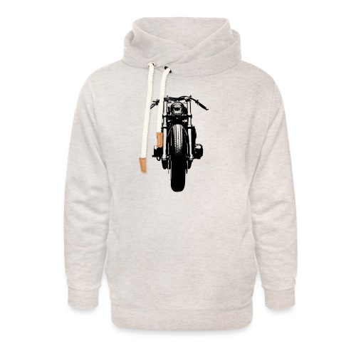 Motorcycle Front - Unisex Shawl Collar Hoodie