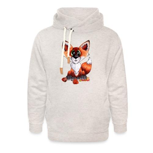 llwynogyn - a little red fox - Unisex huivikaulus huppari
