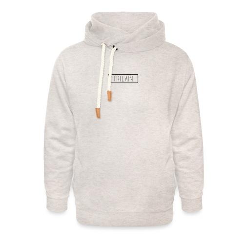 Trilain - Box Logo T - Shirt White - Unisex sjaalkraag hoodie
