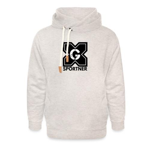 Logo GX SPORTNER noir - Sweat à capuche cache-cou unisexe